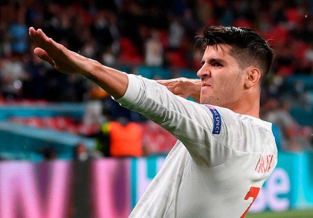 Morata celebra su gol ante Italia / Gtres