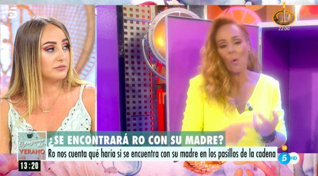 Rocío Carrasco se ha convertido en defensora de la audiencia en 'Sálvame'./Telecinco
