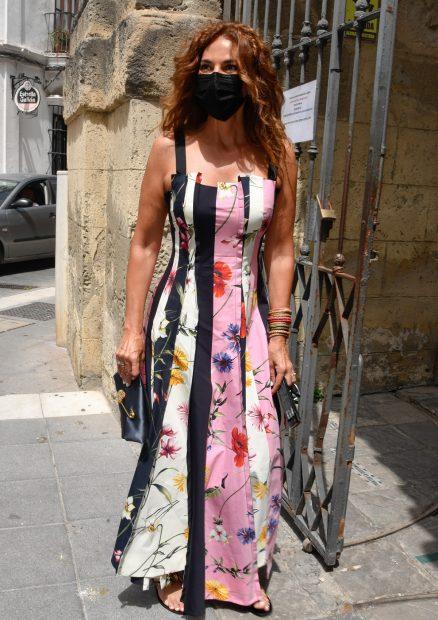 Mariló Montero en la boda de Ymelda Bilbao de la Cierva y Borja Mesa-Jareño./Gtres