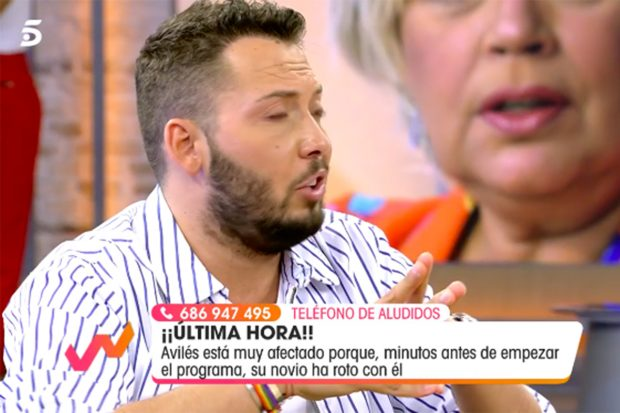 El colaborador ha revelado cómo se encuentra tras la ruptura./Telecinco