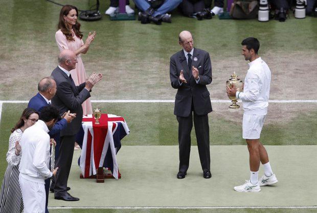 Kate Middleton y Guillermo de Inglaterra, en la final de Wimbledon 2021 / Gtres