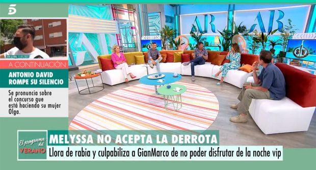 Colaboradores de 'El Programa del verano' hablando de Olga Moreno / Telecinco