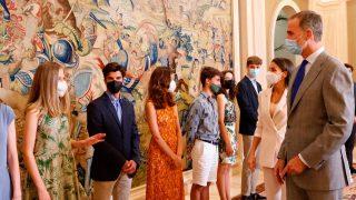 Leonor, una estudiante más en audiencia con los Reyes/Casa Real