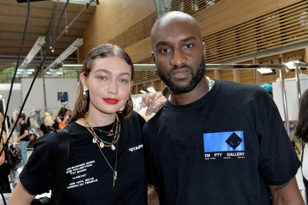 Gigi Hadid y Virgil Abloh -ejecutivo de la marca Off-White- en una imagen de archivo./Gtres