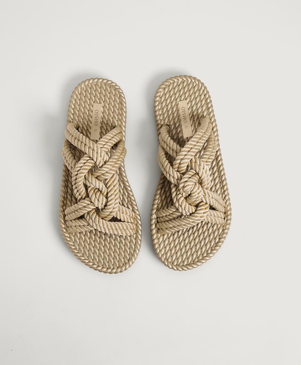 Bimba y Lola rebaja tanto las sandalias de cuerdas que casi valen lo mismo que su clon de Oysho