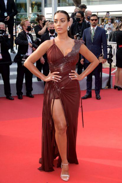 Georgina Rodríguez en el Fesival de Cannes 2021./Gtres