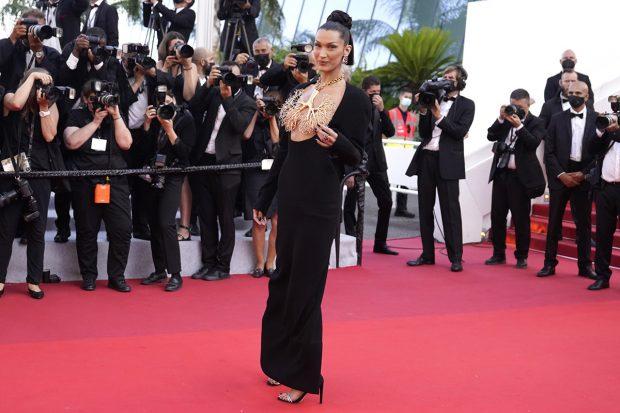 Bella Hadid en el Festival de Cannes 2021./Gtres