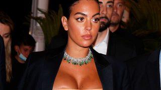 Georgina Rodríguez, durante la fiesta de Cannes / Gtres