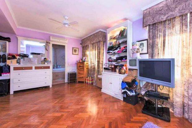 Una de las habitaciones de la casa de Raquel Mosquera./Idealista