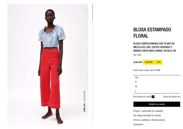 Las prendas de Zara con un 70% de descuento que debes comprar antes de que se acaben