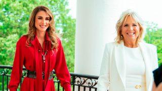 Rania de Jordania en La Casa Blanca / Gtres