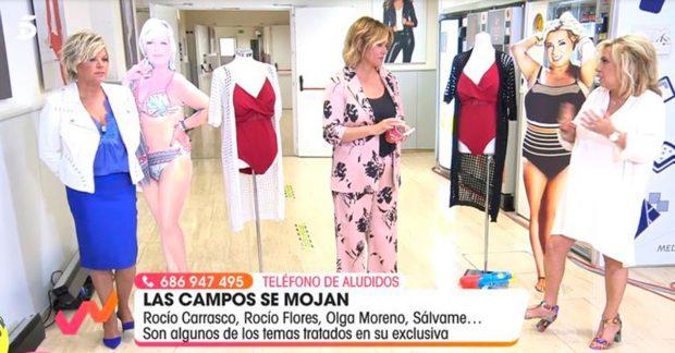 Terelu Campos, Toñi Moreno y Carmen Borrego