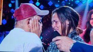 David Flores ha acudido a plató a recibir a Olga Moreno / Telecinco