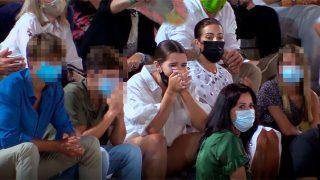 Lágrimas y preocupación de Alba Díaz y Virgina Troconis por la cogida de 'El Cordobés' en Fuengirola/Gtres