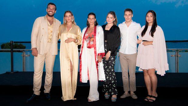 Estefanía de Mónaco, Maxime Giaccardi, Pauline Ducruet, Camille Gottlieb, Louis Ducruet y Marie Ducruet