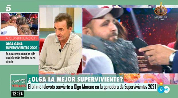 Lequio ha celebrado la victoria de Olga Moreno / Telecinco