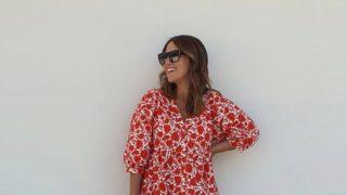 Paula Echevarría triunfa por las calles de Madrid con el vestido de flores top ventas de Mango
