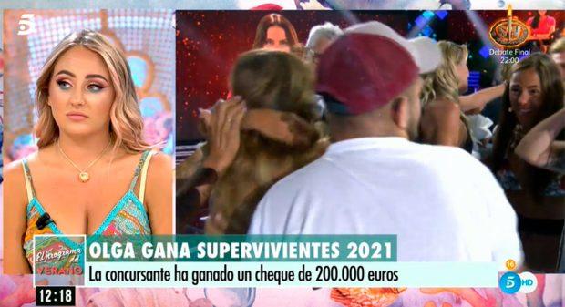 Rocío ha explicado la subida a plató de su hermano David Flores / Telecinco