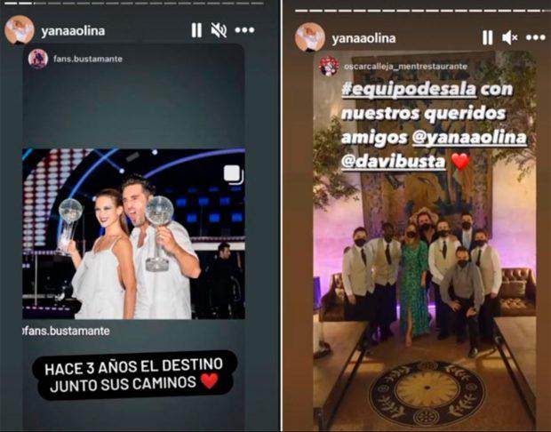 Yana Olina presume de amor con David Bustamante / Instagram