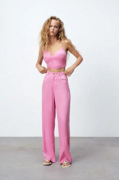 3 pantalones de tiro alto de Zara para esconder barriga