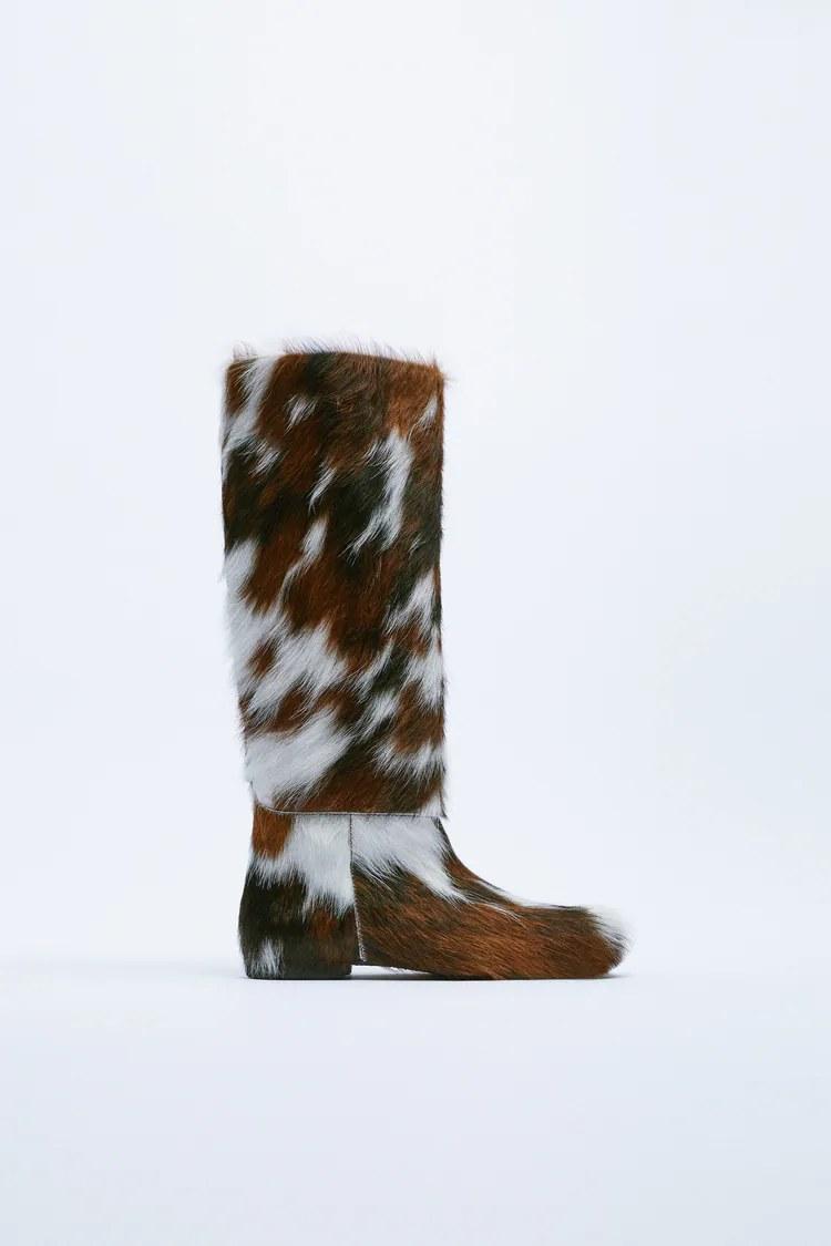 Zara agota en horas las botas de piel de vaca de edición especial que serán tendencia