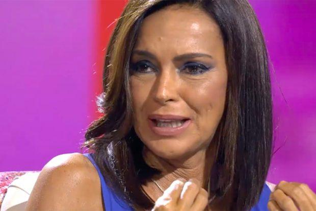 Olga Moreno durante su entrevista./Telecinco
