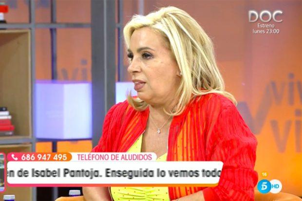Carmen Borrego ha dado su opinión en 'Viva la Vida' sobre la entrevista de Olga Moreno./Telecinco