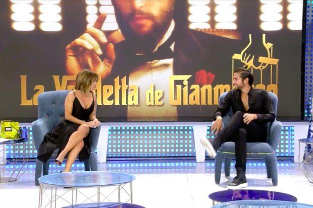 Gianmarco Onestini y María Patiño en 'Viernes Deluxe'./Telecinco