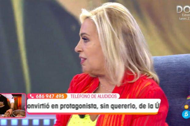 Carmen Borrego ha acudido este sábado a 'Viva la Vida'./Telecinco