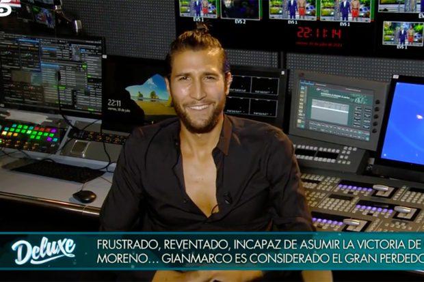 Gianmarco ha cargado duramente contra Olga Moreno, ganadora de 'Supervivientes 2021./Telecinco
