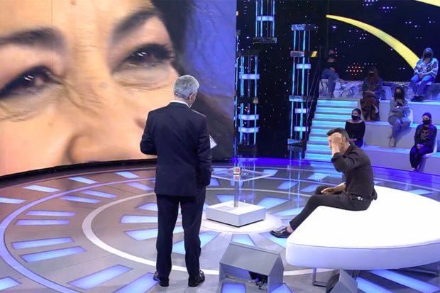 Jesús Vázquez y Carlos Sobera en el plató de 'Volverte a ver'./Telecinco