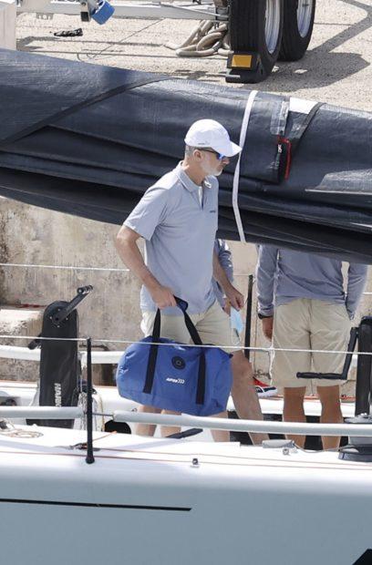 El rey Felipe VI llegó a Palma de Mallorca en la mañana del sábado./Gtres