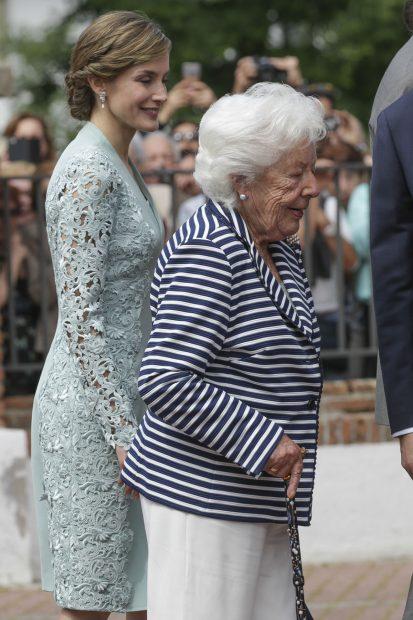 La reina Letizia y su abuela paterna, Menchu en una imagen de archivo./Gtres