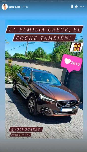 Así es el nuevo coche de Paula Echevarría / Instagram: @paueche