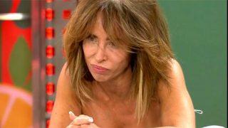 María Patiño, desolada al conocer el resultado del test / Telecinco