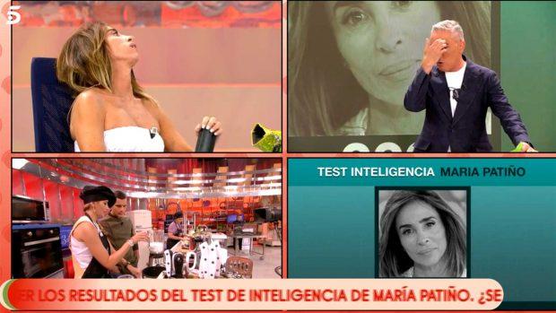 María Patiño, nerviosa antes de conocer su coeficiente intelectual/ Mediaset