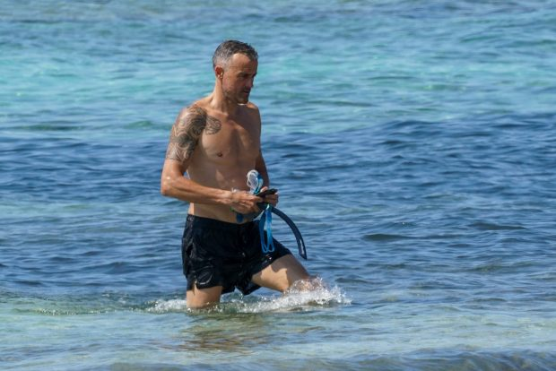 Coach Luis Enrique on holidays in Formentera, 21 July 2021