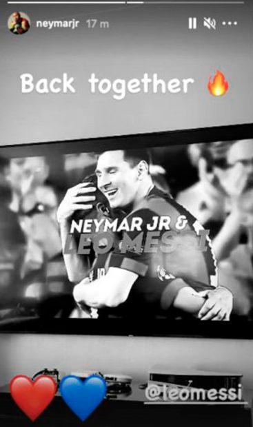 Así ha felicitado Neymar a Leo Messi / Instagram