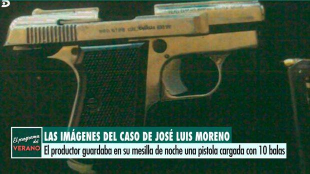 Una de las armas que encontraron en casa de José Luis Moreno, sin licencia / 'El programa del verano'