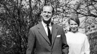 La Princesa Ana con Felipe de Edimburgo / Gtres