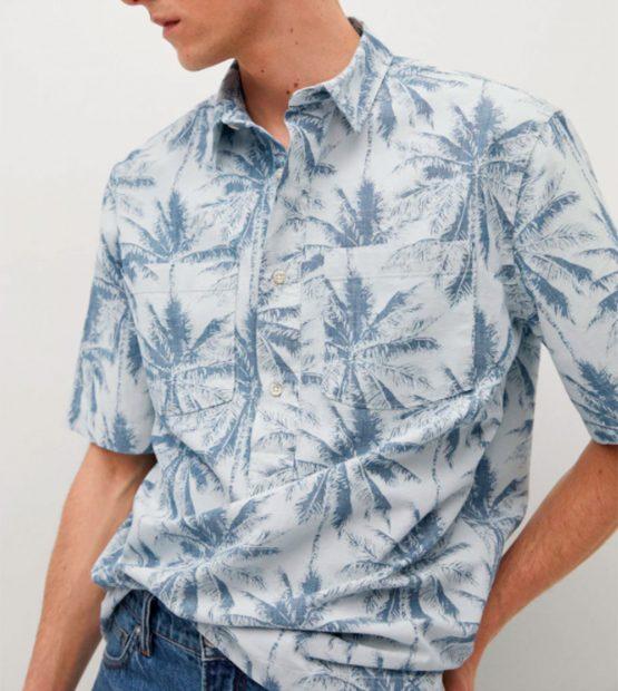 Camisa estampada hombre de Mango, rebajada de 28,99 a 19,99 euros / Mango