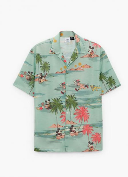 Camisa estampado animado de Disney: 25,99 euros / Zara