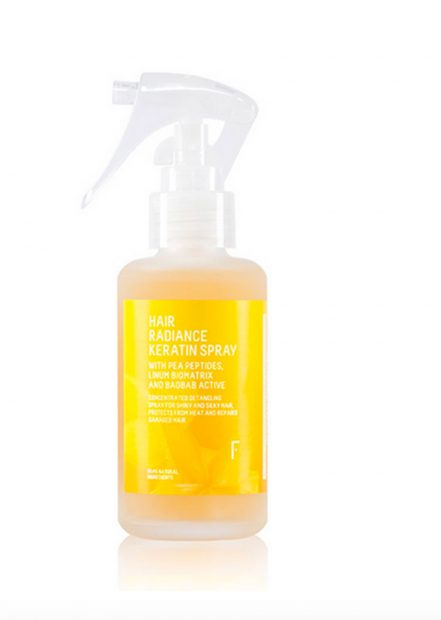 Hair Radiance Keratin Spray de Freshly Cosmetics./Fresly Cosmetics