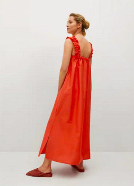 Vestido rojo de Mango./Mango