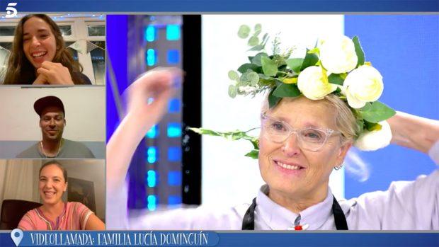 Lucía Dominguín, protagonista de 'La última cena' junto a Cristina Cifuentes./Telecinco