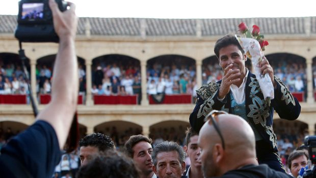 Francisco Rivera, el día de su despedida de los ruedos en Ronda, en el año 2017 / Gtres