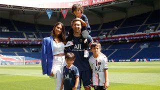 Messi, Antonela Roccuzzo y sus tres hijos / Instagram