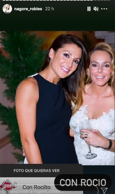 Nagore Robles y Rocío Carrasco en una imagen que ha compartido la colaboradora en sus redes sociales./Instagram @nagore_robles