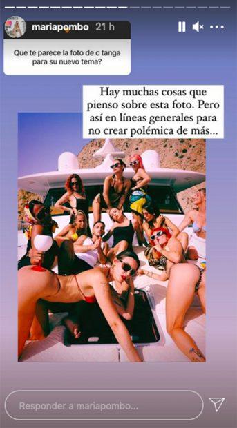 María Pombo ha dado su opinión sobre una fotografía promocional de C.Tangana./@mariapombo