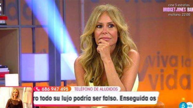 Lara Dibildos ha acudido en la tarde del sábado a 'Viva la Vida'./Telecinco